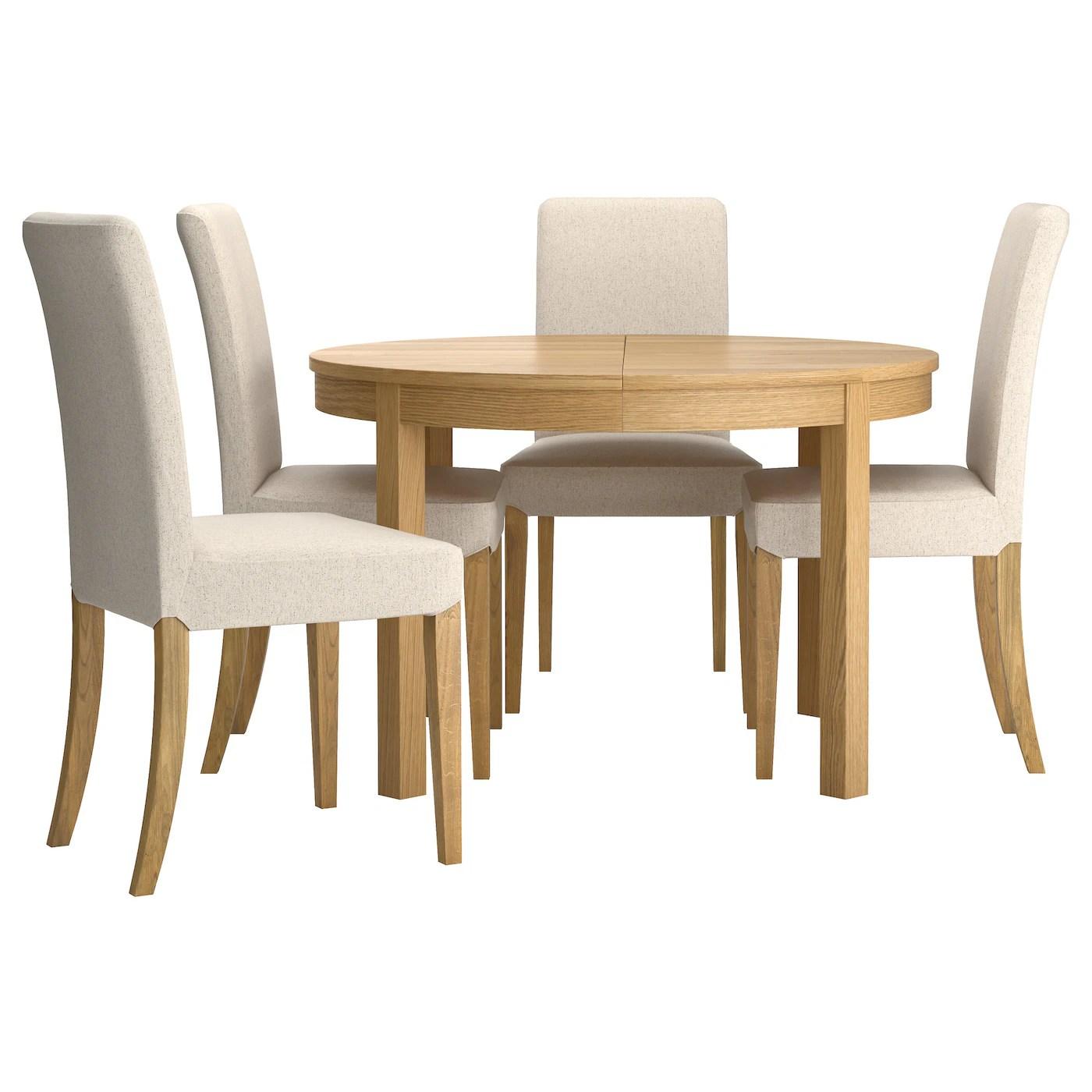 ikea small table and chairs baby lawn chair henriksdal bjursta 4 oak veneer linneryd