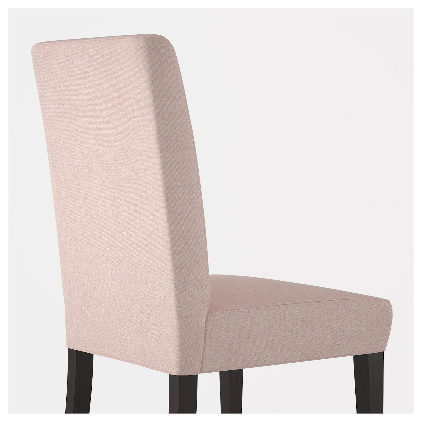 pale pink chair royal dental henriksdal brown black gunnared ikea