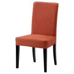 Ikea Orange Chair Covers Rocking Danish Design Henriksdal Brown Black Skiftebo Dark