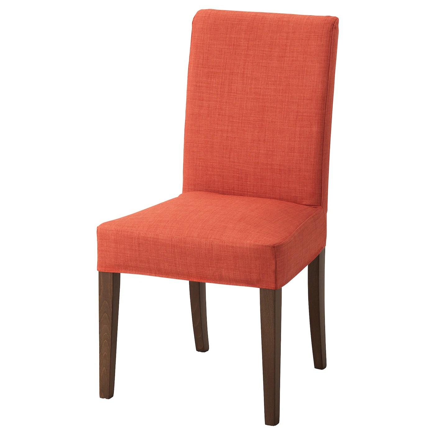 ikea orange chair covers blue wingback henriksdal brown skiftebo dark