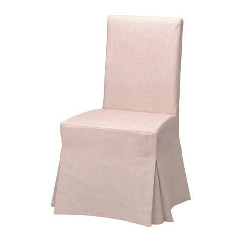 pink chair covers ikea homedics massager henriksdal cover long gunnared pale