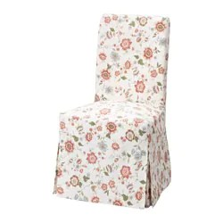 pink chair covers ikea butterfly ottoman dining henriksdal cover long