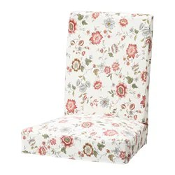 pink chair covers ikea white oversized dining henriksdal cover