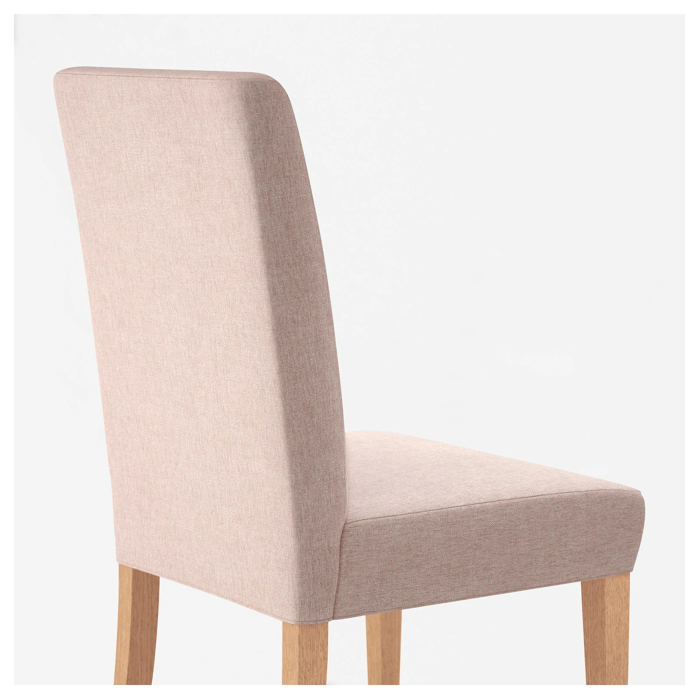 pale pink chair mid century chairs for sale henriksdal oak gunnared ikea