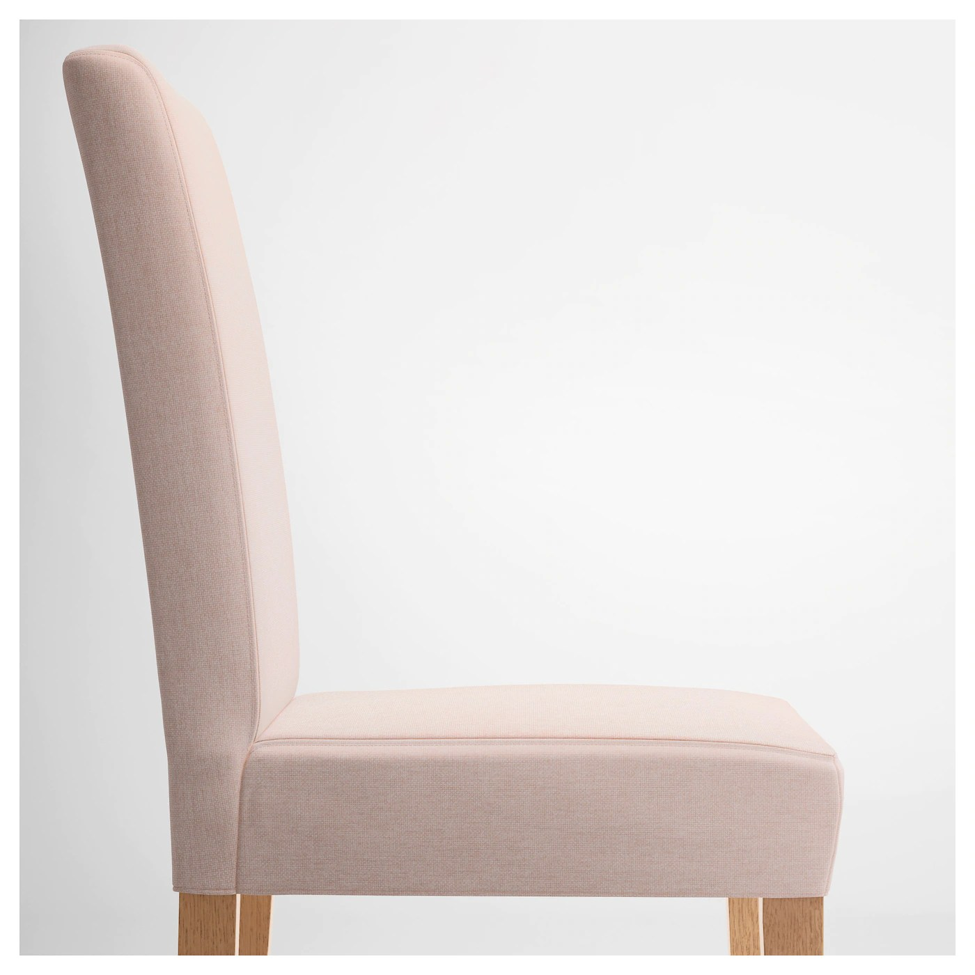 pale pink chair covers wedding gold henriksdal oak gunnared ikea