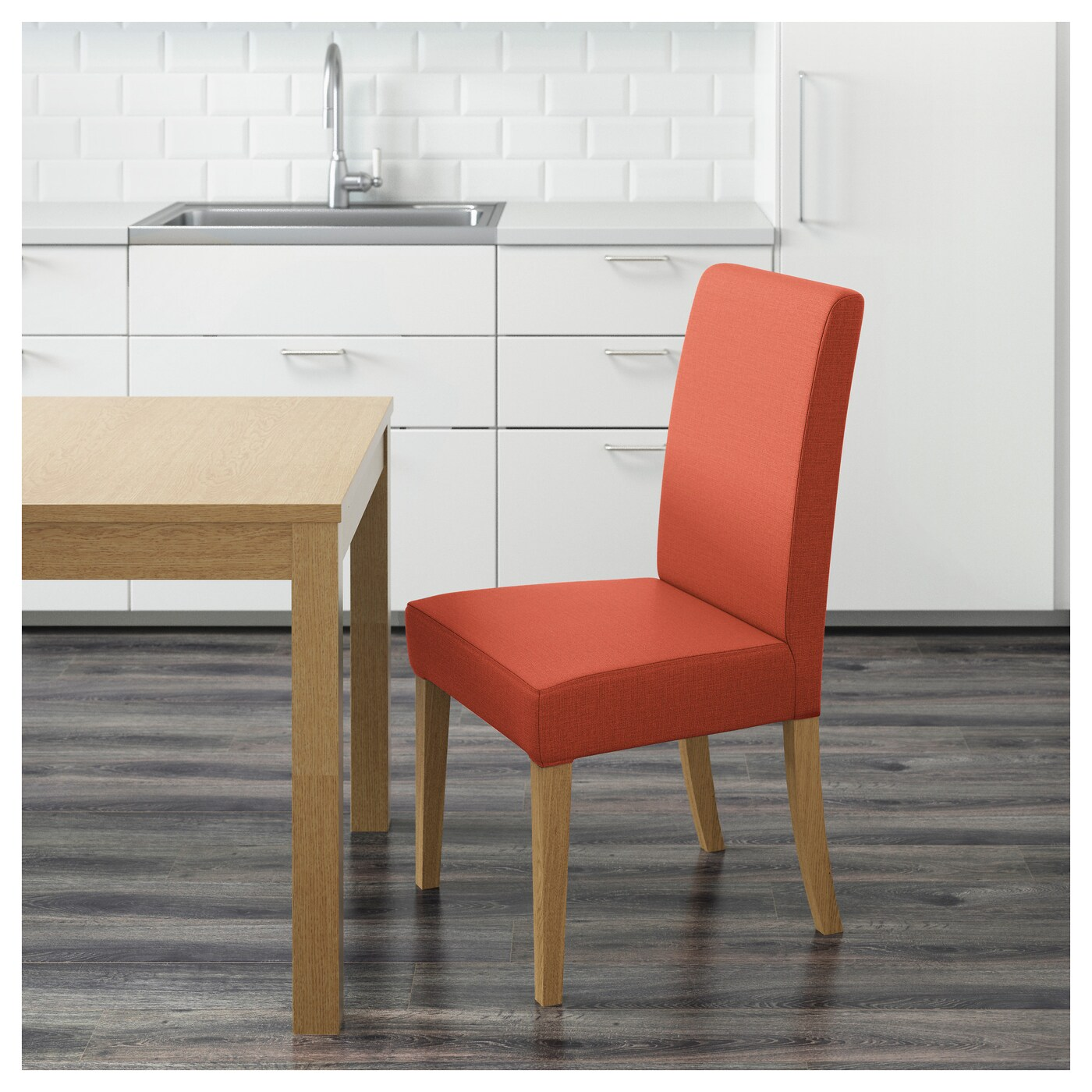 ikea orange chair covers church sanctuary chairs henriksdal oak skiftebo dark