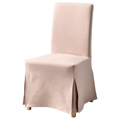 Pink Chair Covers Ikea Ergonomic Youtube Henriksdal With Long Cover Birch Gunnared Light