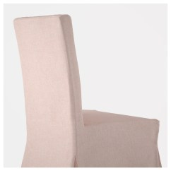 Pink Chair Covers Ikea Purple Mesh Office Chairs Henriksdal With Long Cover Birch Gunnared Light