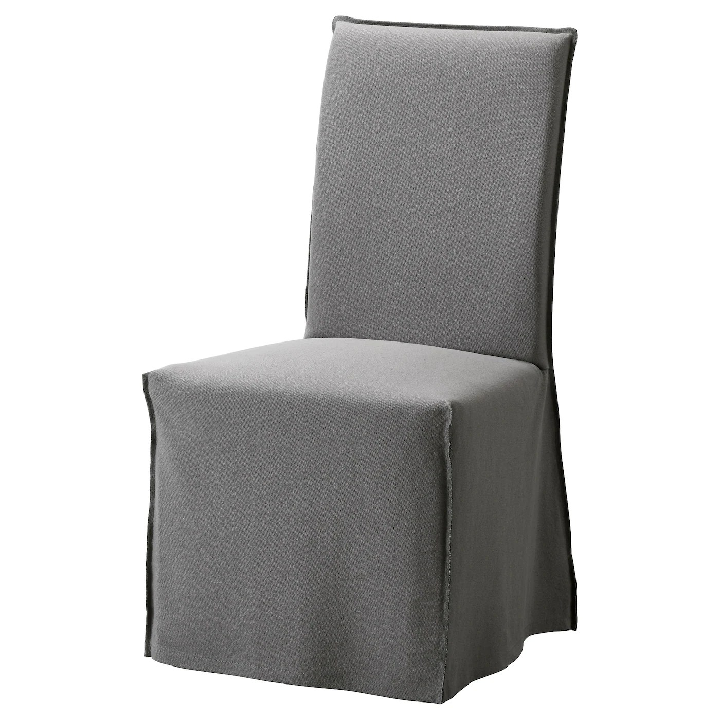 ikea velcro chair covers lounge chairs target henriksdal with long cover brown risane grey