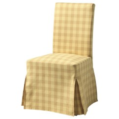 Washing Ikea Chair Covers Cow Print Dining Henriksdal With Long Cover Brown Skaftarp Yellow