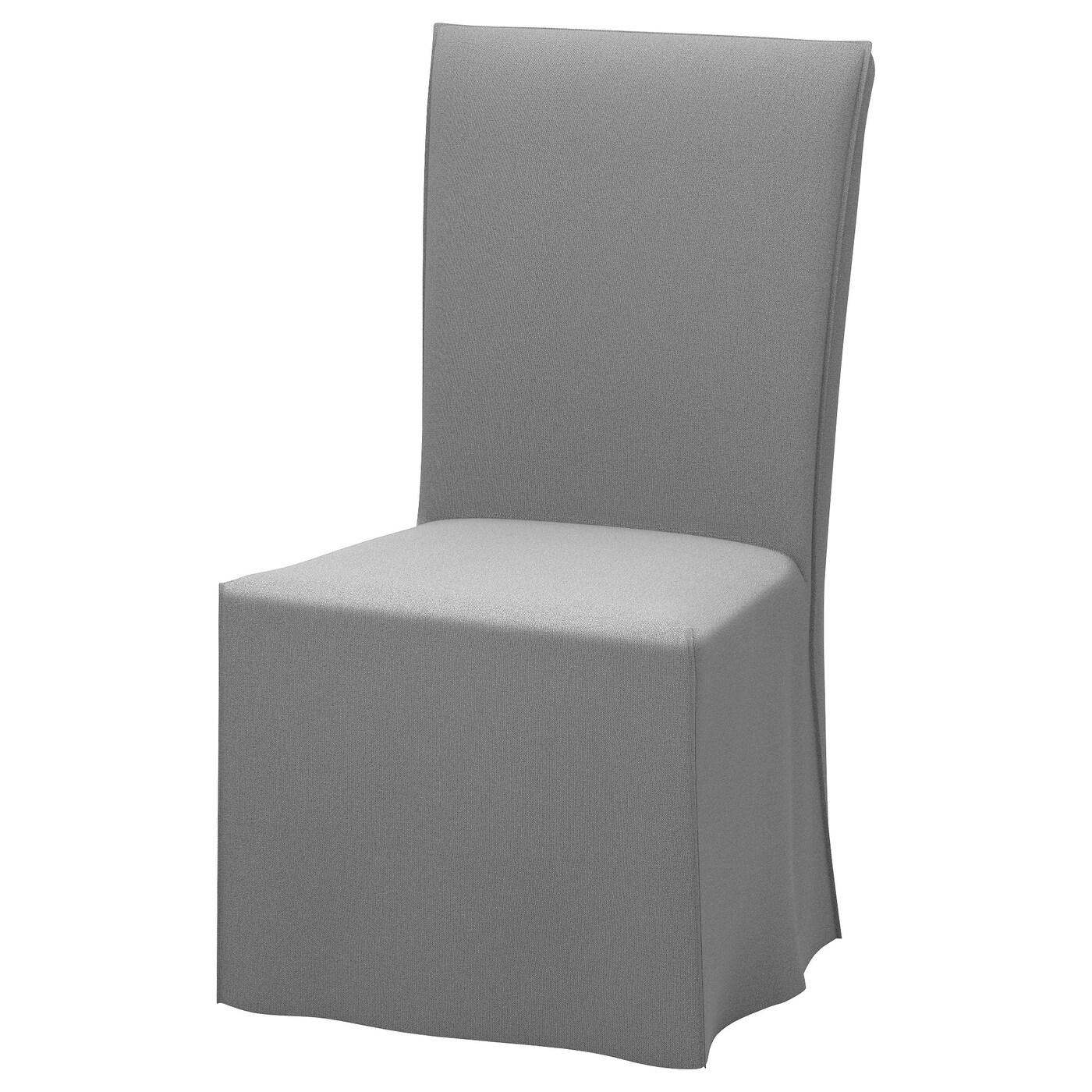 pink chair covers ikea tall vanity henriksdal with long cover dark brown risane grey