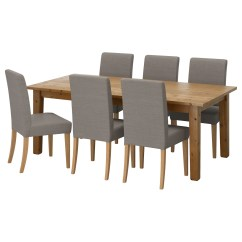 Table And 6 Chairs Sams Folding Tables Seater Dining Ikea Henriksdal Stornas