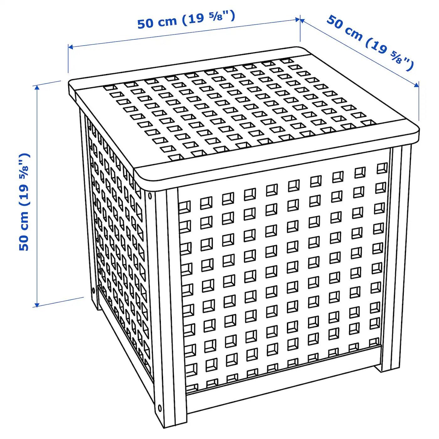 Hol Side Table Acacia 50 X 50 Cm