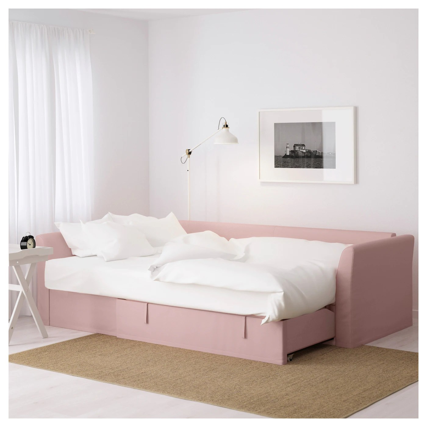 light pink sofa bed luxury leather sofas from china holmsund corner ransta ikea