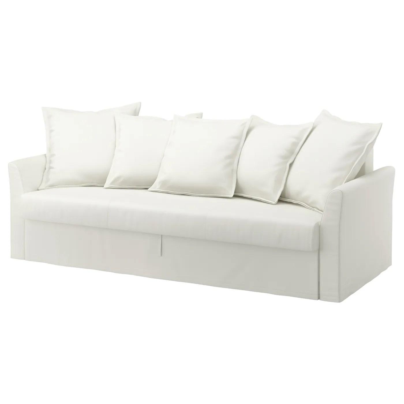 sofa chair bed ikea white covers cheap holmsund three seat ransta