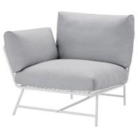 IKEA PS 2017 Corner easy chair with cushions White/grey - IKEA