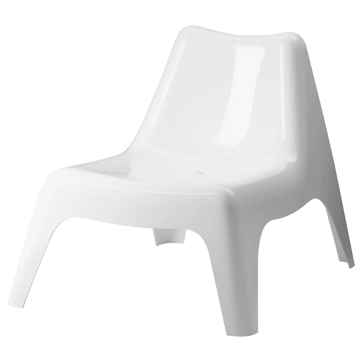 white plastic lounge chairs cheap card table and set ikea ps vÅgÖ easy chair outdoor