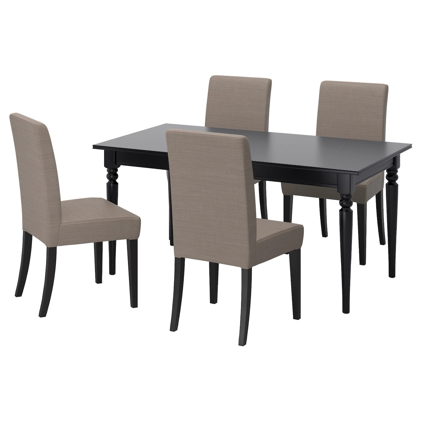 grey table and chairs boat for sale ingatorp henriksdal 4 black nolhaga