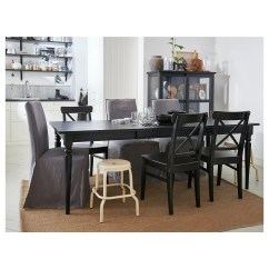 Ikea Ingolf Chair Resin Rocking Brown Black