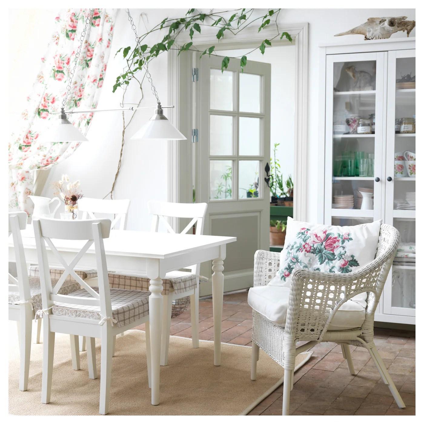 ikea ingolf chair patio repair material white