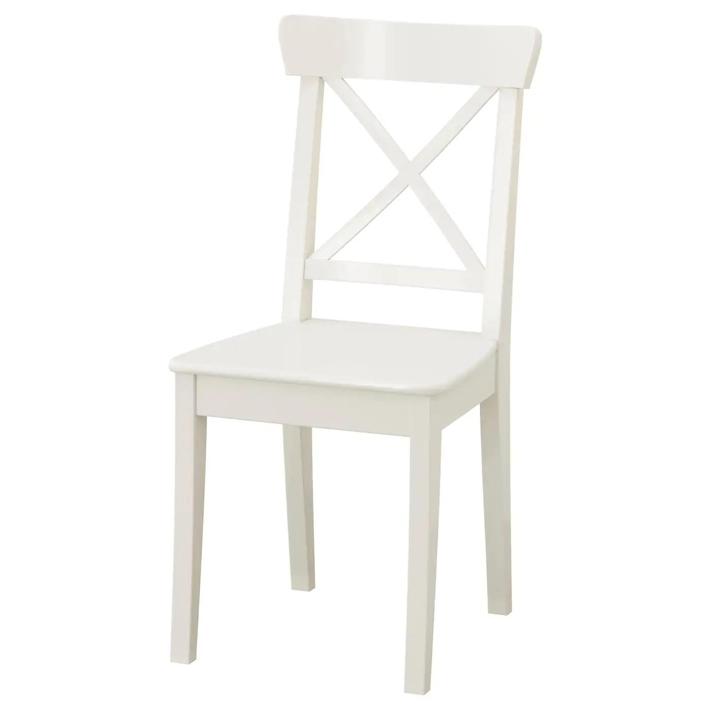 cross back dining chairs white big circle chair ingolf ikea