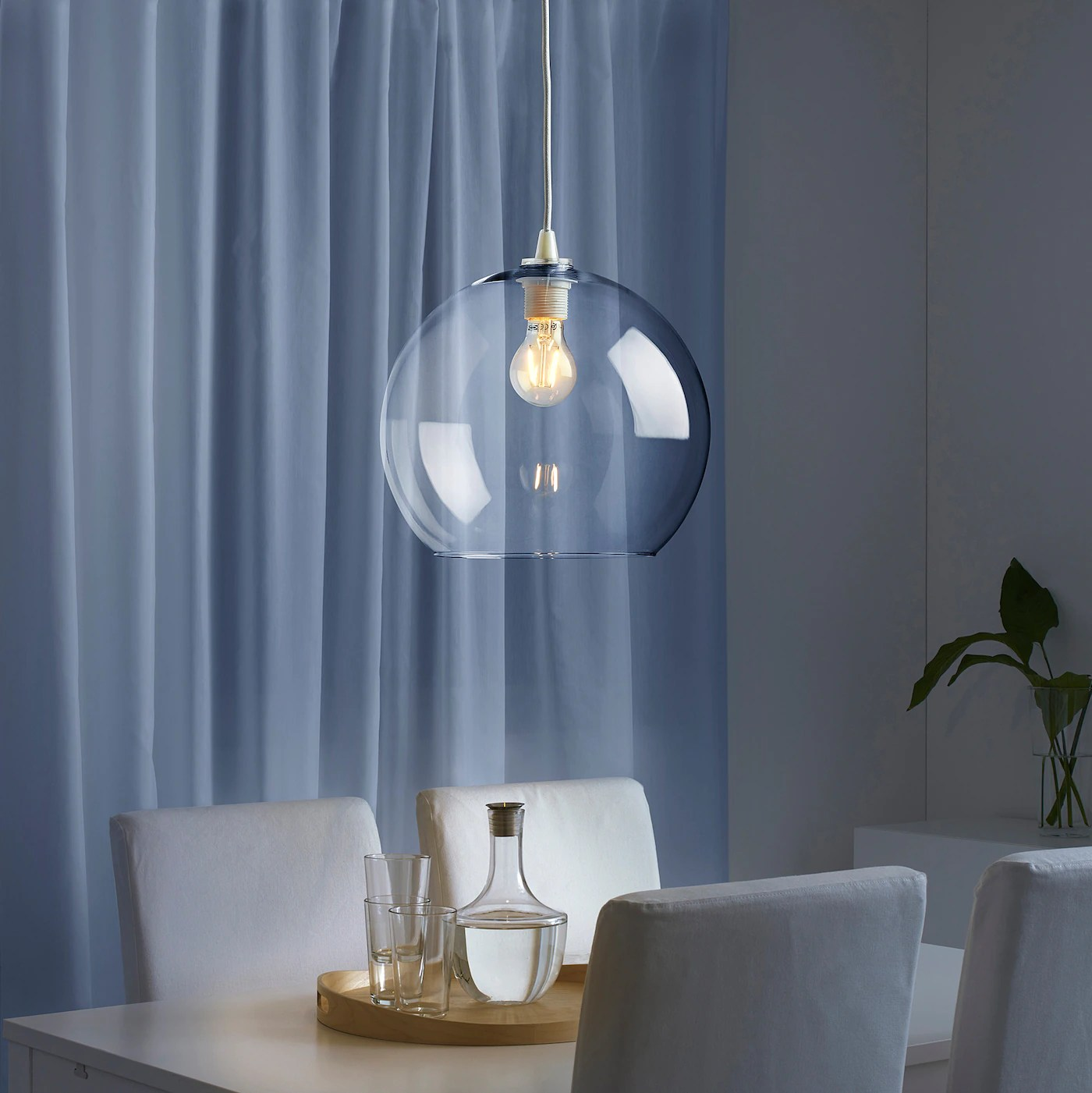 Jakobsbyn Clear Glass Pendant Lamp Shade Ikea