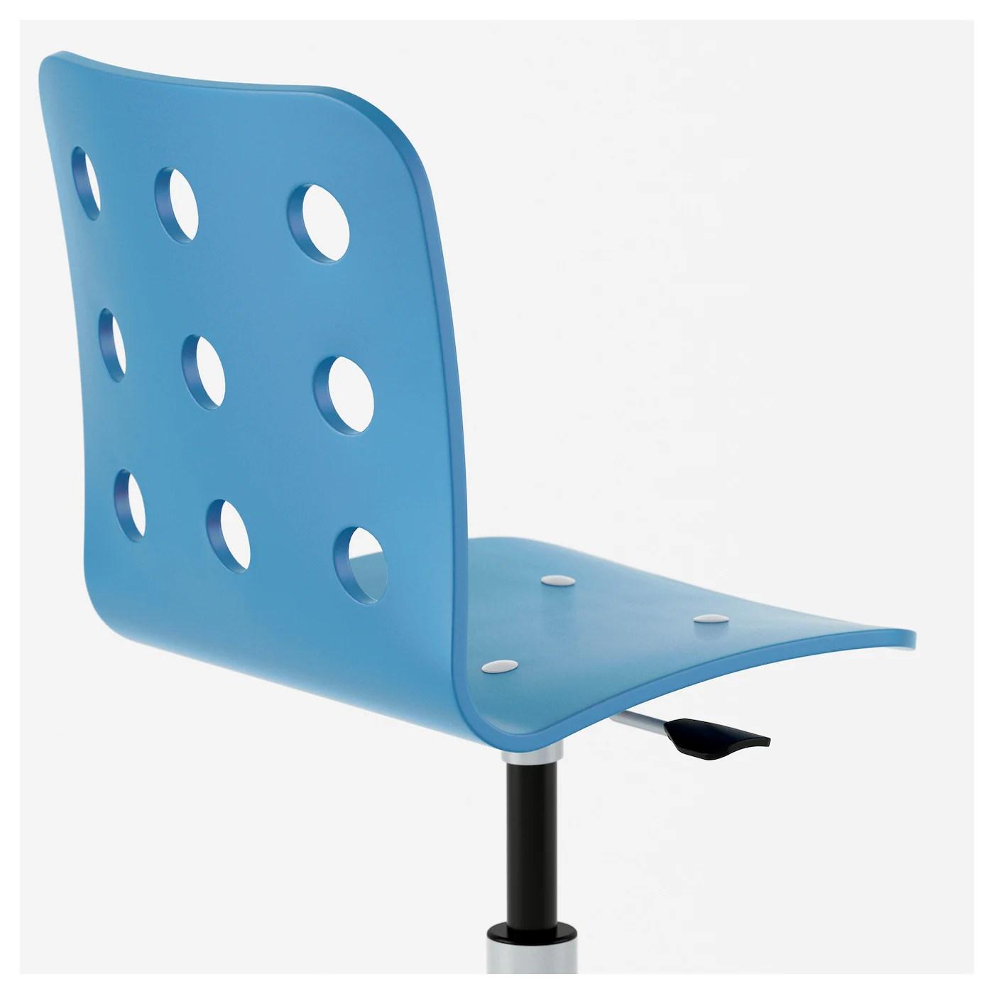 ikea junior desk chair glider swivel jules children 39s blue silver colour