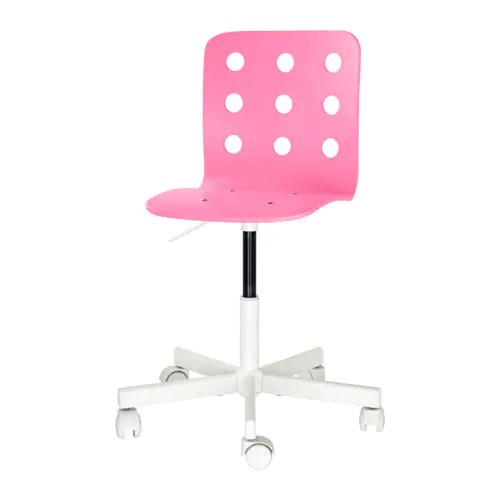 children's desk chair jules red dining room chairs canada pink/white - ikea