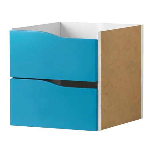 childrens chairs ikea break room table and kallax insert with 2 drawers turquoise 33 x cm -