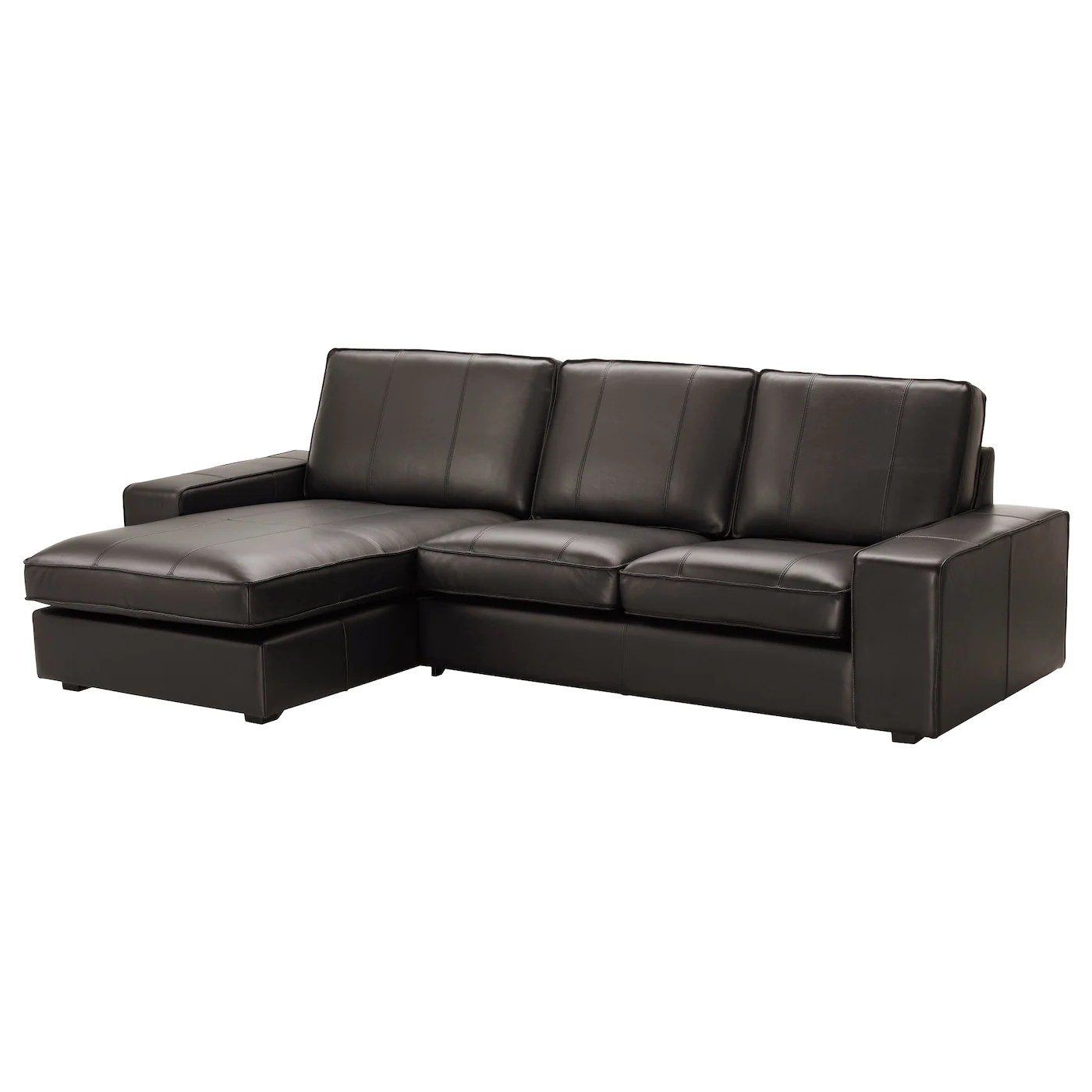 black leather chair ikea tufted recliner and coated fabric sofas