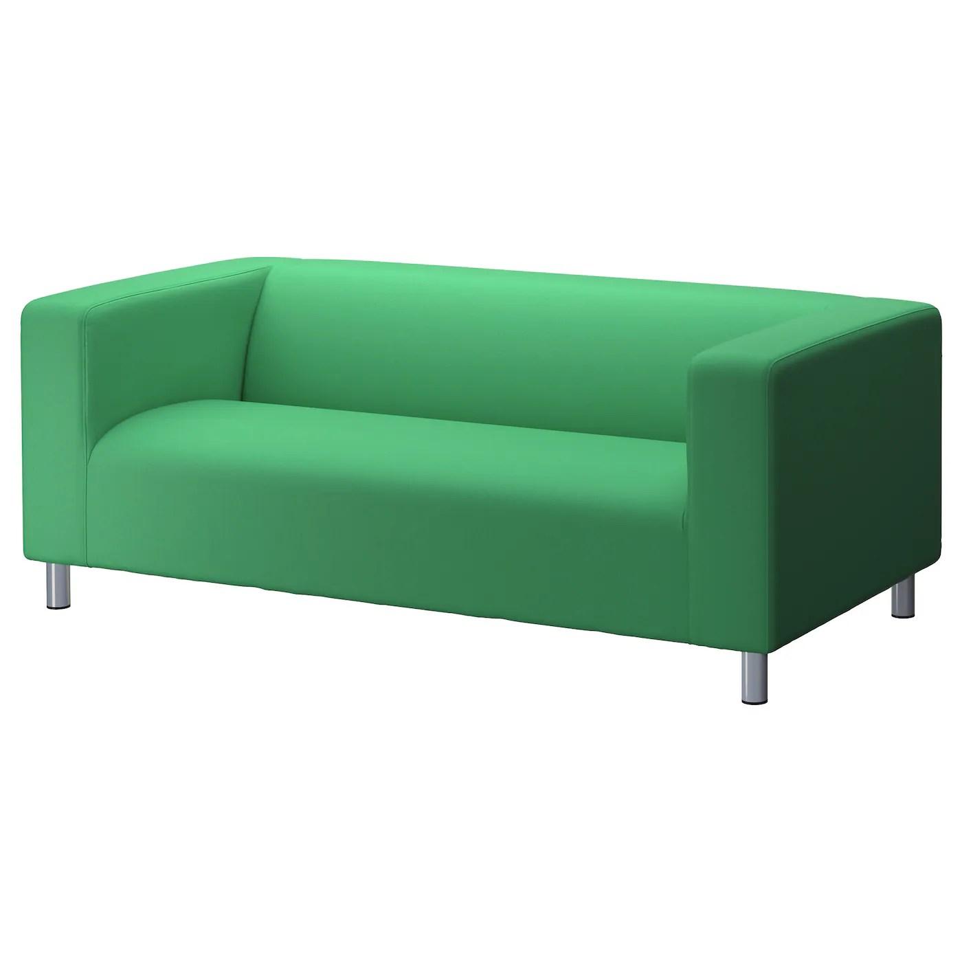 ikea klippan sofa cover red verona leather two-seat flackarp green -