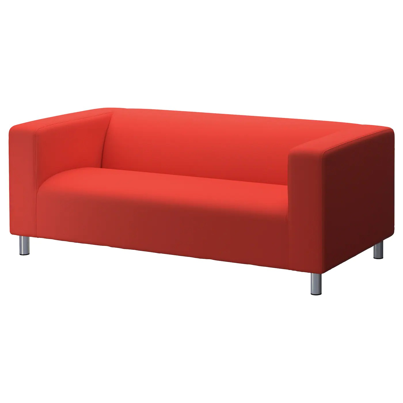 ikea klippan sofa cover red nesting tables two seat flackarp orange