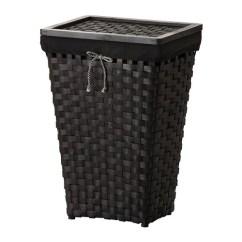 Noir Furniture Chairs Sunbrella Dining Chair Cushions Knarra Laundry Basket With Lining Black/brown - Ikea