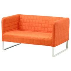 Orange Fabric Sectional Sofa Leather Room Ideas Knopparp 2 Seat Ikea