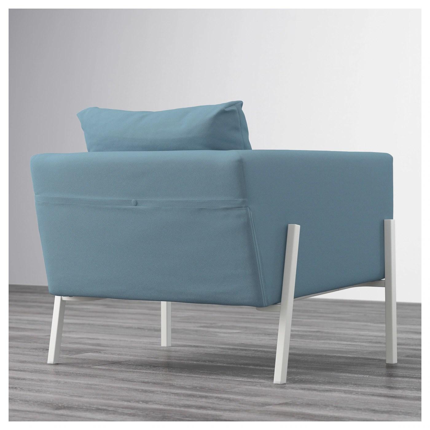 white armchair cover costco beach chairs koarp gräsbo blue ikea