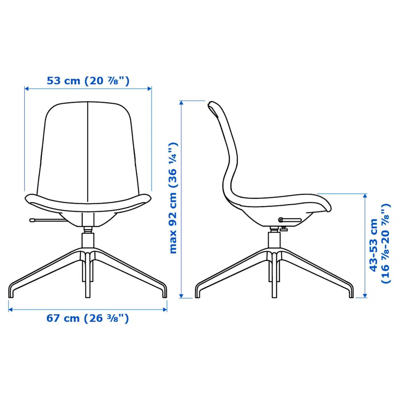 L Ngfjall Swivel Chair Gunnared Blue Black