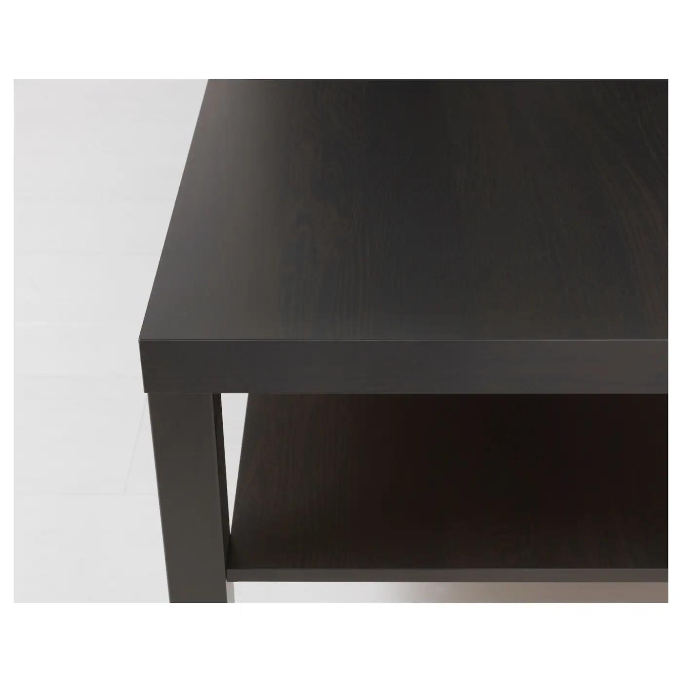 lack coffee table black brown 118x78 cm