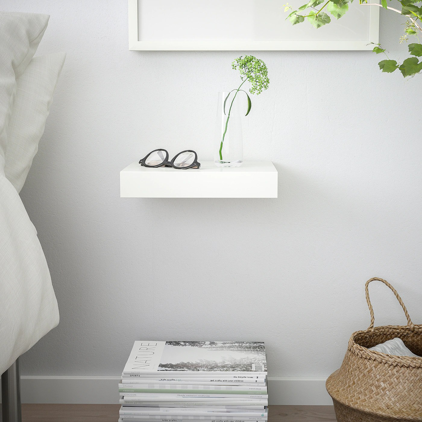 Lack White Wall Shelf 30x26 Cm Ikea