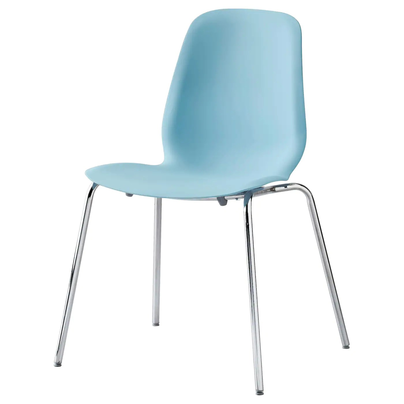 chair with light fishing online leifarne blue broringe chrome plated ikea