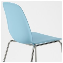 Light Blue Desk Chair Swivel Without Back Leifarne Broringe Chrome Plated Ikea