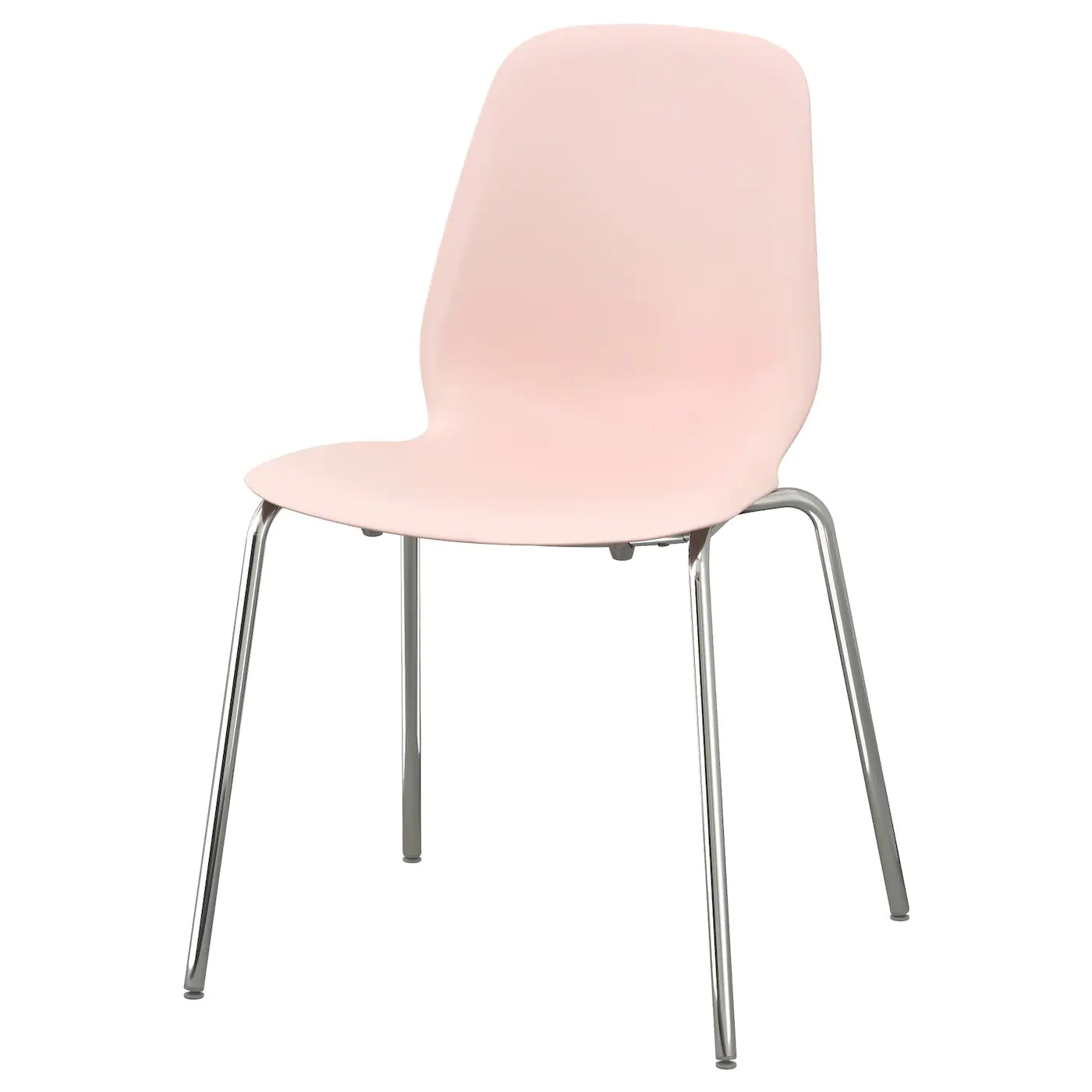 ikea pink desk chair potty chairs for larger toddlers leifarne broringe chrome plated