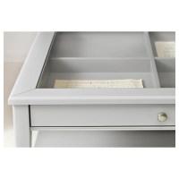 LIATORP Coffee table Grey/glass 93x93 cm - IKEA