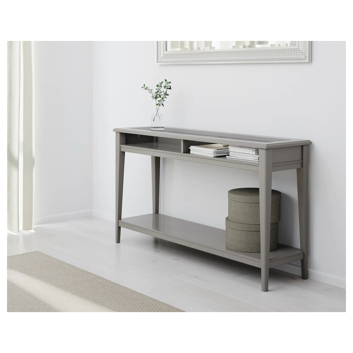 liatorp sofa table instructions bed at rooms to go console grey glass 133 x 37 cm ikea