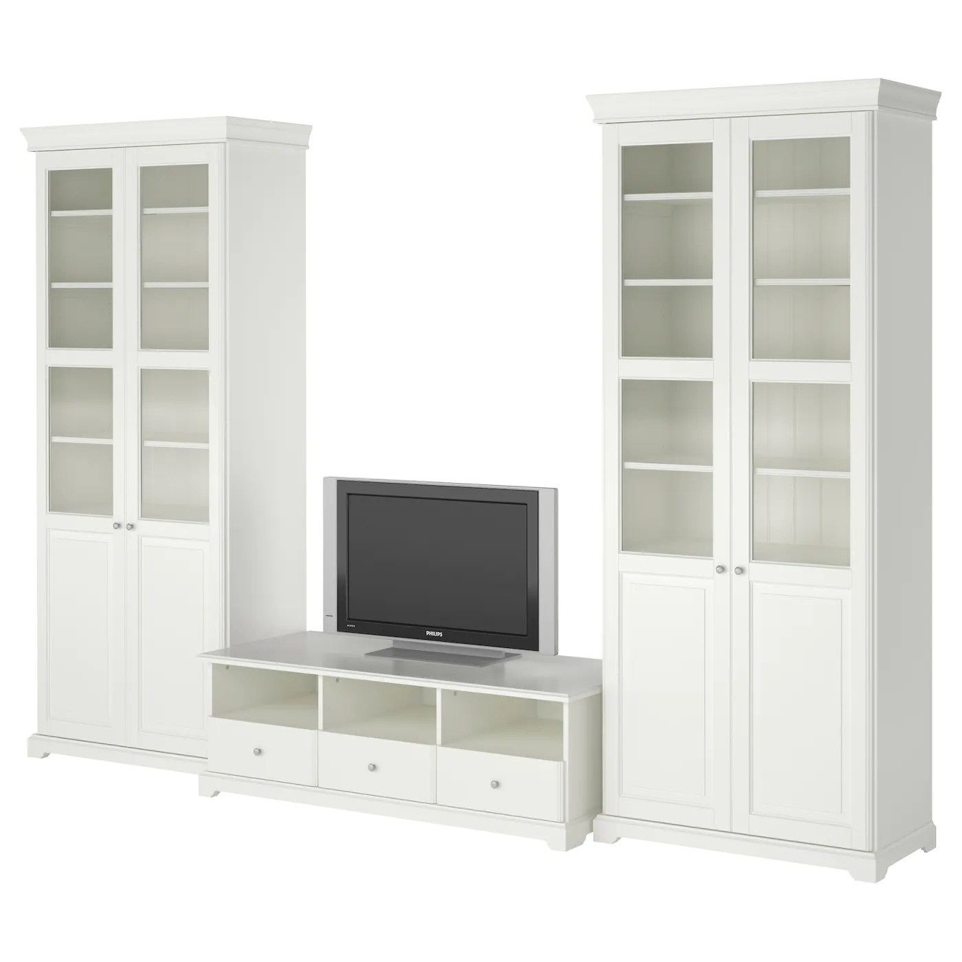 tv chair ikea pottery barn office chairs liatorp storage combination white 331x214 cm