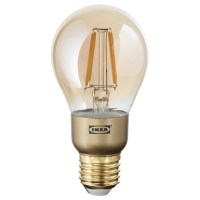 LUNNOM LED bulb E27 400 lumen Dimmable/globe brown clear ...