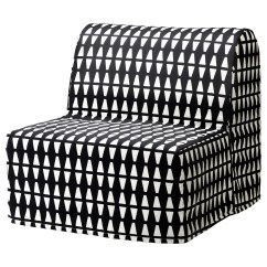 Lycksele Chair Bed Kids Recliner Chairs Cover Ebbarp Black White Ikea