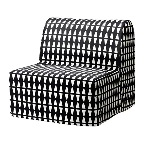 lycksele chair bed best outdoor chaise lounge chairs 2018 havet ebbarp black white ikea cover made of durable cotton with a geometric pattern