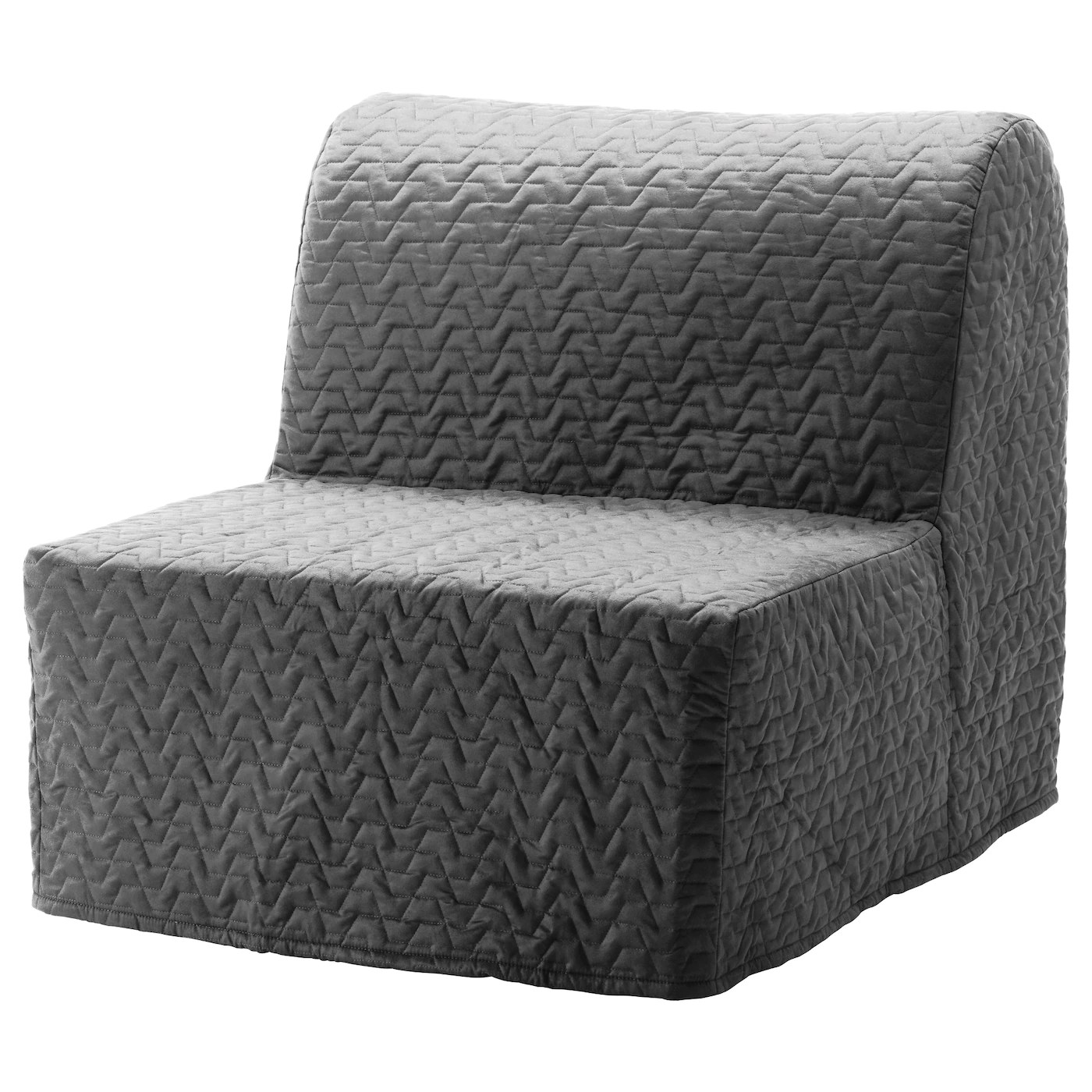 lycksele chair bed cover seat corners murbo vallarum grey ikea