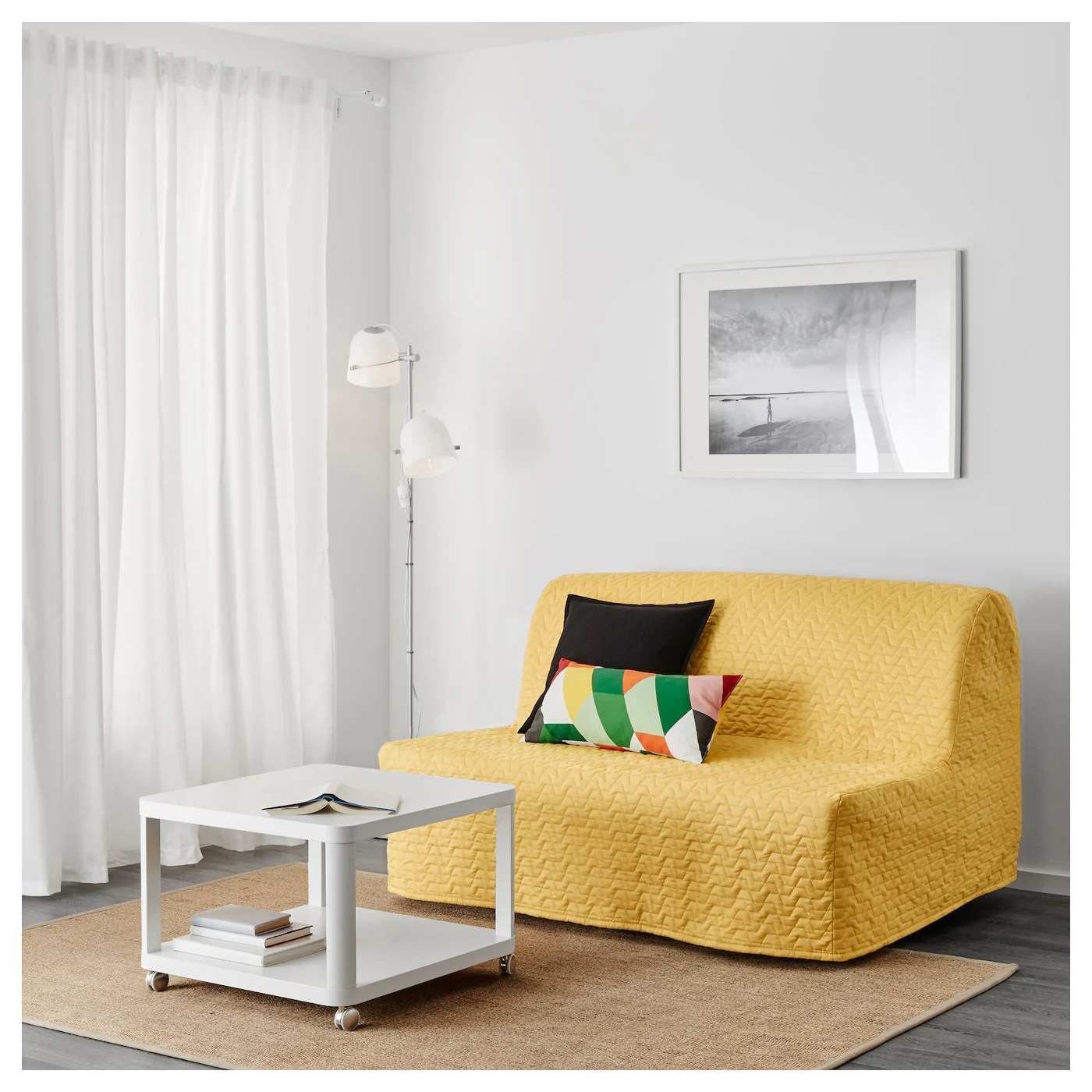 lycksele chair bed french cafe chairs murbo two seat sofa vallarum yellow ikea