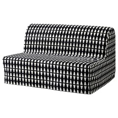 Lycksele Chair Bed Parsons Dining Room Chairs Two Seat Sofa Cover Ebbarp Black White Ikea